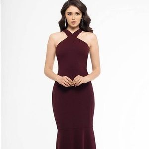 burgundy betsy & adam etta scoop neck down